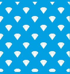 brilliant gemstone pattern seamless blue vector image