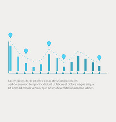Business infographic with graphic design vector