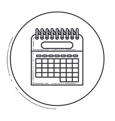 Calendar inside circle design vector