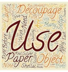Decoupage is an art based on good old scissors vector