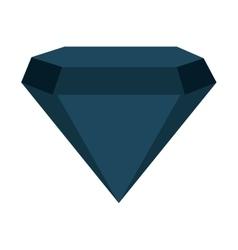 diamond bright silhouette icon vector image vector image