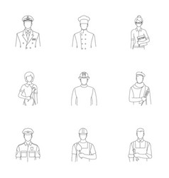 Doctor worker military artist and other types vector