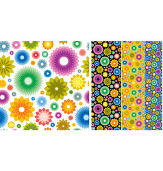 flower wallpaper background vector image vector image