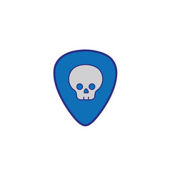 full color rock emblem with skull symbol design vector image vector image