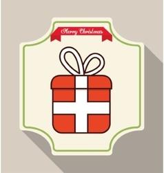 Gift of christmas season design vector