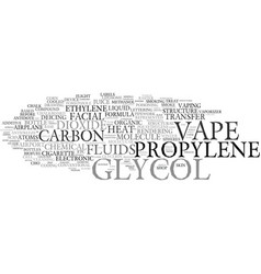 Glycol word cloud concept vector