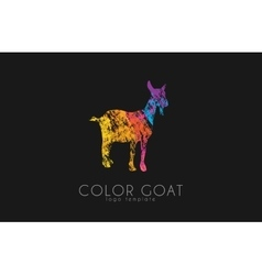 Goat goat logo color goat creative logo vector