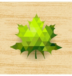 Green maple leaf vector image
