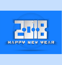 happy new year text on blue background vector image vector image