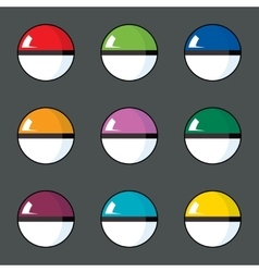 icon set of color balls vector image vector image