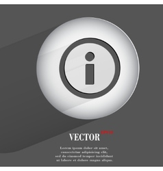 info Flat modern web button with long shadow and vector image vector image