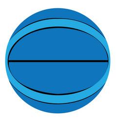 Isolated basketball ball vector