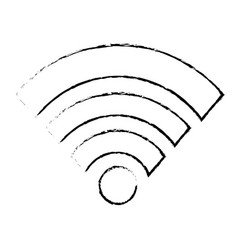 isolated wifi design vector image