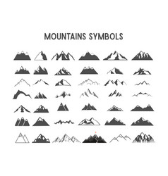 mountain shapes and elements for creation vector image
