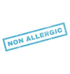 Non allergic rubber stamp vector
