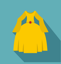 Princess dress icon flat style vector