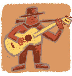 Rude bluesman vector