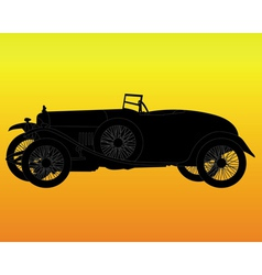 silhouette of a retro car vector image vector image