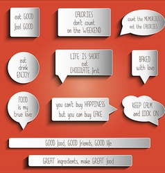 tags labels buttons stickers with message about vector image vector image