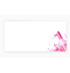 Template design card background with lipstick vector