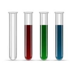 test tubes filled with various color blood vector image vector image