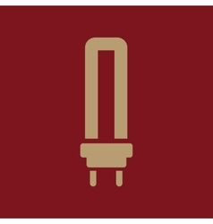 The fluorescent light bulb icon Lamp and bulb vector image vector image