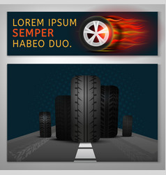 Tyre banners image vector