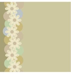 Vertical seamless vintage pattern vector image vector image