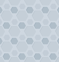 Seamless hexagon patterned background vector