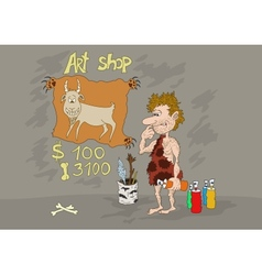 Stone Age Art Shop vector image