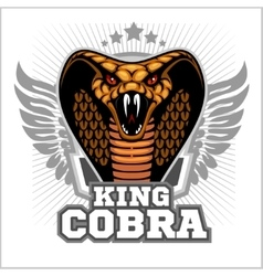 King cobra - mascot template design vector