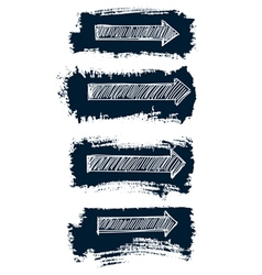 Arrows set grunge vector image