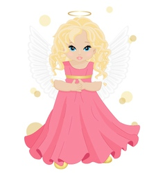 little angel vector image