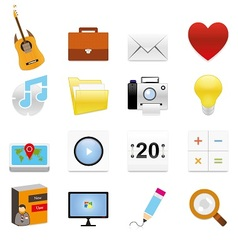 Web icons 11 vector