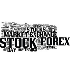 Forex beats the stock market text background word vector