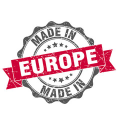 Made in europe round seal vector