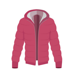 Unisex down jacket flat style vector