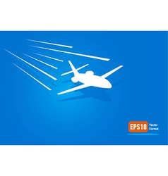 airplane flight air fly sky blue takeoff vector image