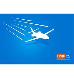 Airplane flight air fly sky blue takeoff vector