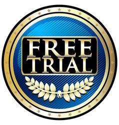 Free Trial Blue Emblem vector image