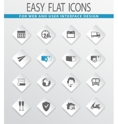 Delivery service icons set vector