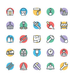 Construction Cool Icons 2 vector image
