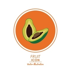 Avocado icon healthy food design graphic vector