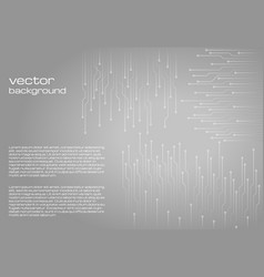 Abstract technological gray background vector