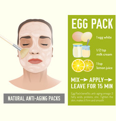 anti-aging face pack vector image