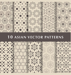 arabic luxury patterns pack vector image vector image