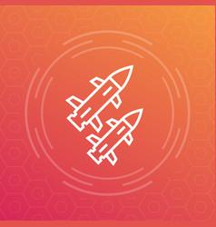 Ballistic missiles icon vector