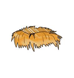 Bird nest symbol vector