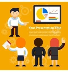 Business presentation design vector