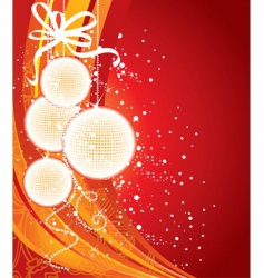 Christmas back red vector image vector image